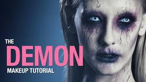 halloween ghost makeup ideas demon makeup tutorial haunted woods pinterest demon makeup
