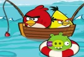 play angry birds fishing