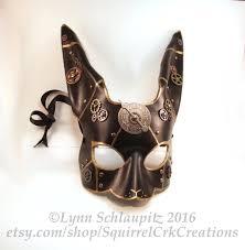 rabbit mask halloween steampunk leather rabbit mask rabbit bunny rabbit costume