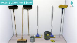 hanging u0026 leaning mops u0026 brooms more details decorations