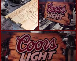 coors light bar sign coors sign etsy