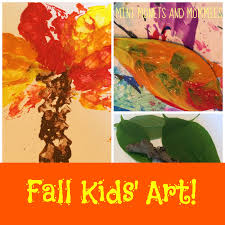 mini monets and mommies leaf print fall tree art activity