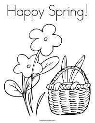 spring coloring sheets happy spring coloring page twisty noodle