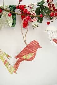 craftaholics anonymous paper bird ornaments gift toppers