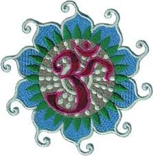 Lotus Flower With Om Symbol - amazon com novelty iron on patch zen om symbol on lotus