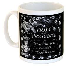 Peacock Mug Pride And Prejudice Peacock Book Cover Mug