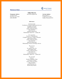 resume reference page examples best solutions of correct apa