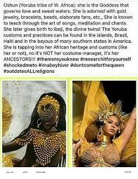 oshun yoruba tribe of w africa she is the goddess that governs