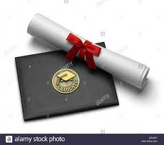 diploma cover black diploma cover with rolled degree isolated on white