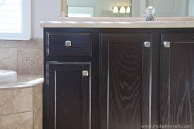 how to refinish bathroom cabinets how to stain oak cabinets the simple method without sanding
