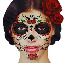 Halloween Skeleton For Sale by Amazon Com Glitter Red Roses Day Of The Dead Sugar Skull