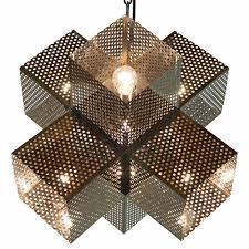 Geometric Pendant Light by Ross Industrial Loft Laser Cut Stainless Steel Geometric Pendant