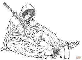 free gurren lagann anime manga coloring pages kids coloring7