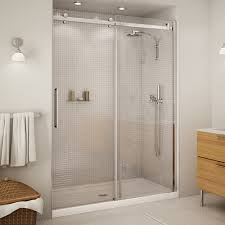 60 Shower Doors Halo 60 Clear Glass Chrome Shower Door By Maax Bargain Outlet