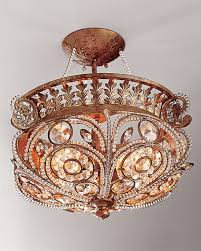 la crystal semi flush light fixture