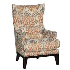 Silver Lake Sand Patterned Upholstered Traditional Wingback Chair - Lake furniture
