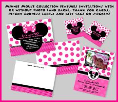 luxury mickey mouse birthday party photo invitations birthday