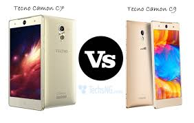 what is the difference between c7 and c9 lights tecno camon c7 vs tecno camon c9 specs comparison