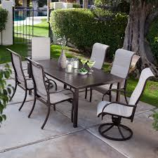 Patio Furniture Wrought Iron Dining Sets - have to have it del rey deluxe padded sling aluminum table dining