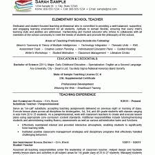 Elementary Teacher Resume Sample by Wondrous Inspration Teacher Resume Sample 15 Elementary