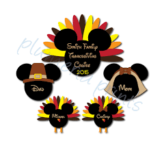 handmade thanksgiving family magnet set mouse heads for disney