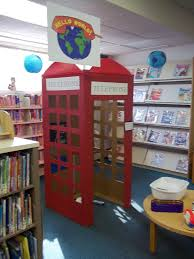 cardboard phone box for summer theme at the library cut by