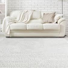 shaggy soft rug with silk texture in white icustomrug
