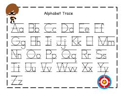 preschool printables alphabet tracing sheet from owensfamily
