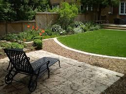 Small Backyard Landscape Ideas On A Budget by Backyard Landscape Design In Richmond Hill Landscaping Ideas