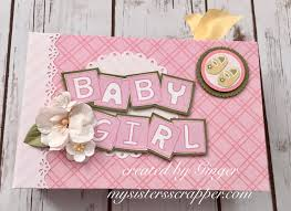 baby girl photo album craftangles baby girl mini album my scrapper