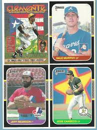 the fleer sticker project 1987 donruss box bottom cards panels