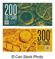 fast food gift cards vectors of fast food gift voucher and coupon sale discount