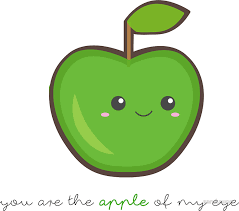 fruit puns you are the apple of my eye stickers by sandywoo