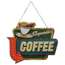 coffee metal vintage retro home décor plaques u0026 signs ebay