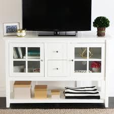 walker edison w58ccrbl 58 x 24 in wood corner tv console black