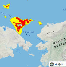 Alaska On A Map by In Alaska U0027s Chukchi Sea Shell Resumes Offshore Drilling As Nearby
