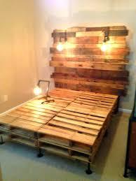 bed frame with lights wood pallet bed wood pallet stunning wood pallet bed frame with