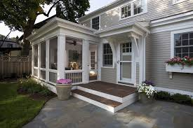 back door porch ideas porch traditional with wood siding screened