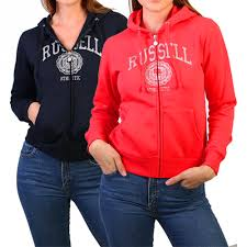 55 off on russell athletic ladies zip through hoodies with