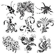 flower vector ornament silhouettes stock vector colourbox