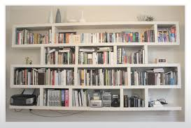 White Bookcase Ideas Creative Wall Mounted Bookcase For More Interesting Decors Ruchi
