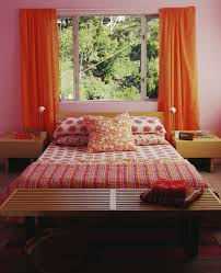 Pink And Orange Bedroom Bold Color Schemes For Bedrooms