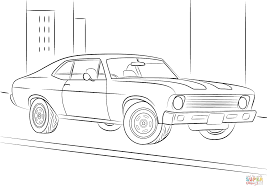1970 chevrolet chevy ii nova coloring page free printable