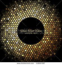 Gold Lights Vector Gold Lights Frame On Black Stock Vector 538687087