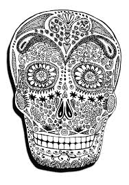 halloween skeleton head halloween coloring pages for adults