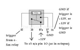12 volt fan relay wiring diagram 12 volt cigarette lighter wiring