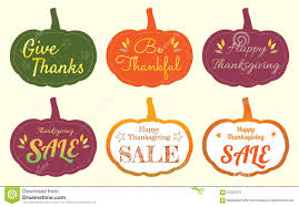 set of happy thanksgiving pumpkin tag label stock vector image