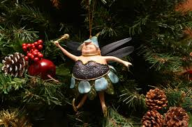 fat fairy christmas ornaments hand made and hand painted fairy
