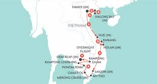 Mekong River Map Mekong Odyssey Vietnam Tour Wendy Wu Tours