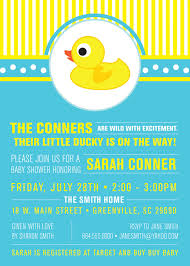 little rubber ducky baby shower invitations duckie modern